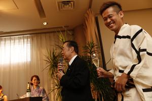会長と竹井佑介