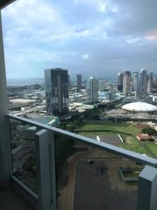 ハワイのマンションからの眺望