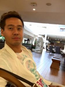 ハワイに到着した竹井佑介
