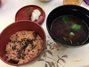 天ちゃんお食い初め赤飯