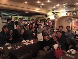 コーチングメンバーとフラメンコディナーをした竹井佑介