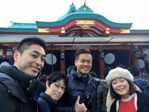 社員と一緒に初詣2016をする竹井佑介