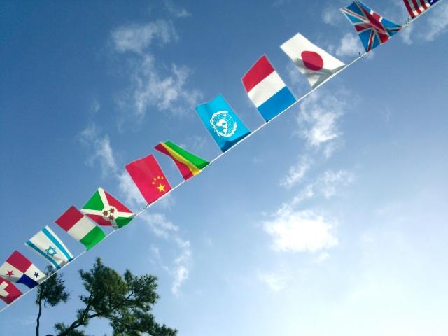 世界の広さを感じる世界中の国旗