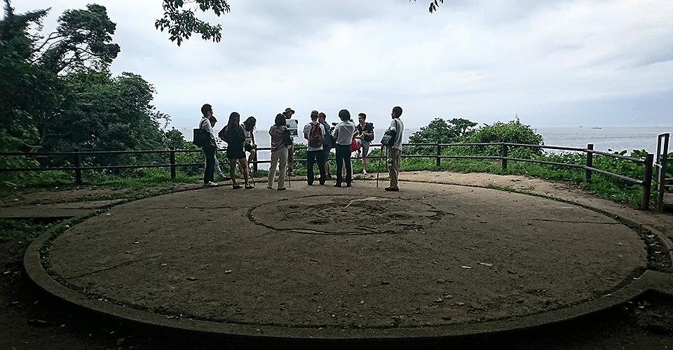 猿島の砲台跡