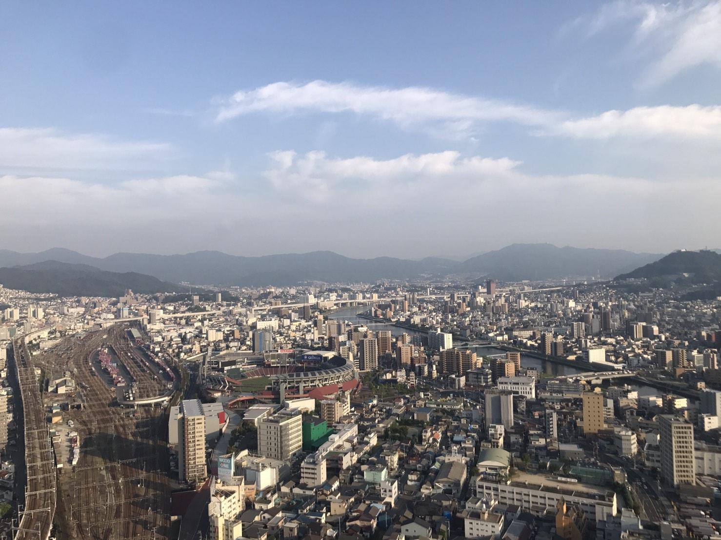 竹井の広島自宅からの風景