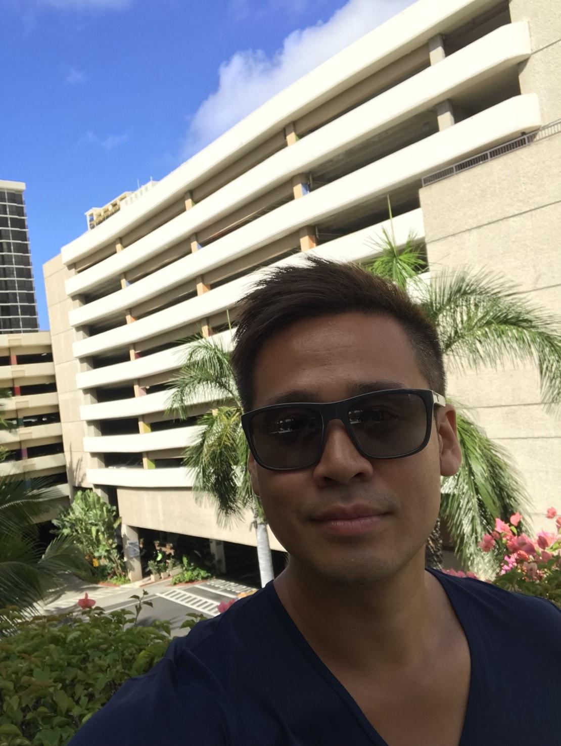 ハワイ滞在中の竹井佑介
