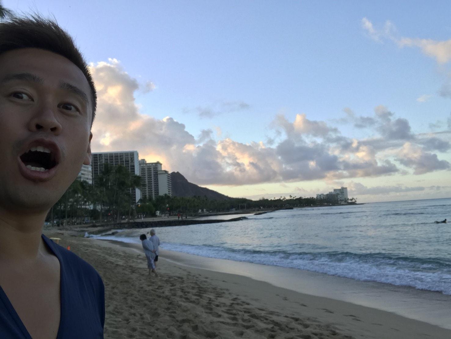 ハワイ最終日の朝