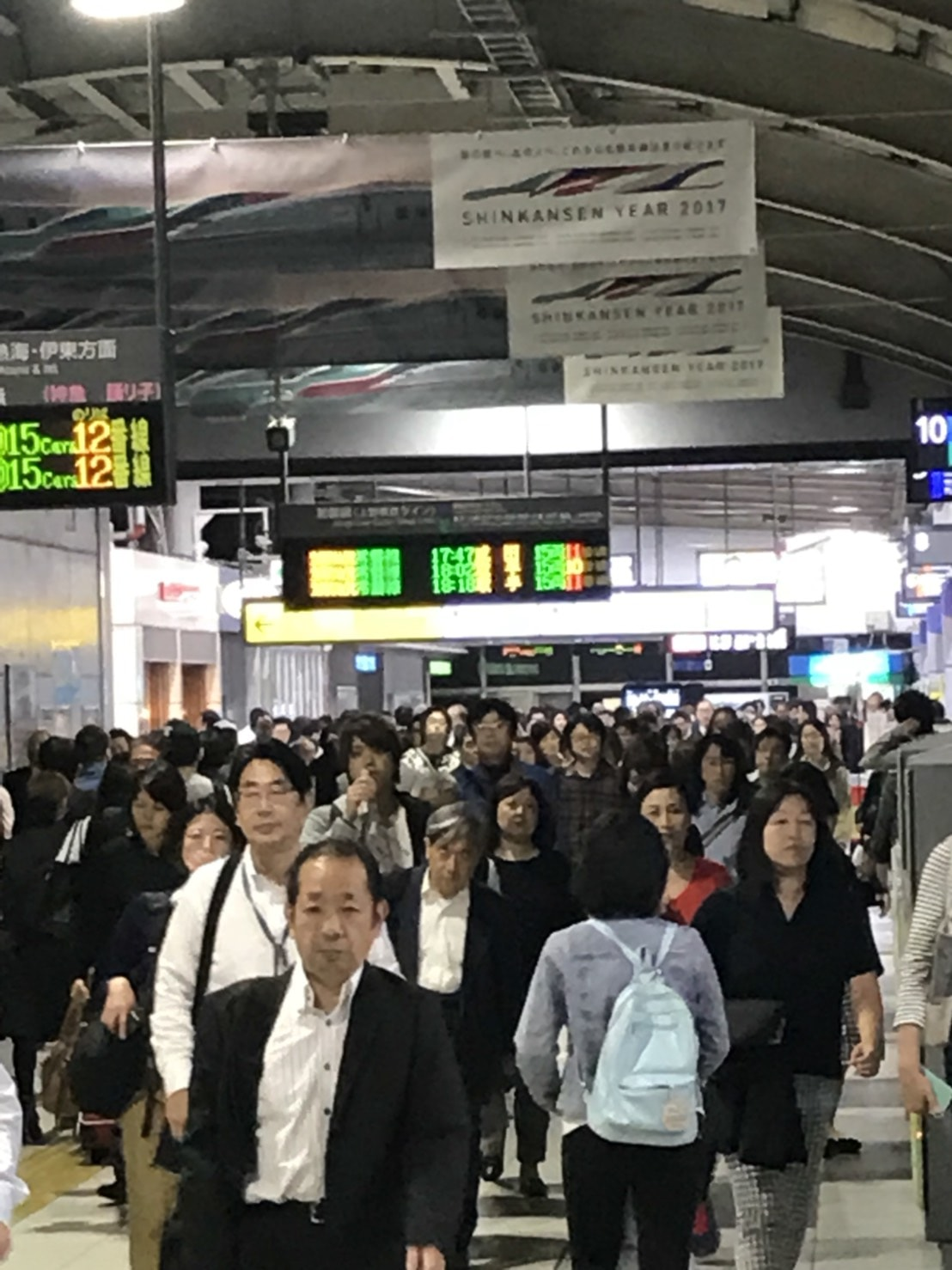品川駅の混雑