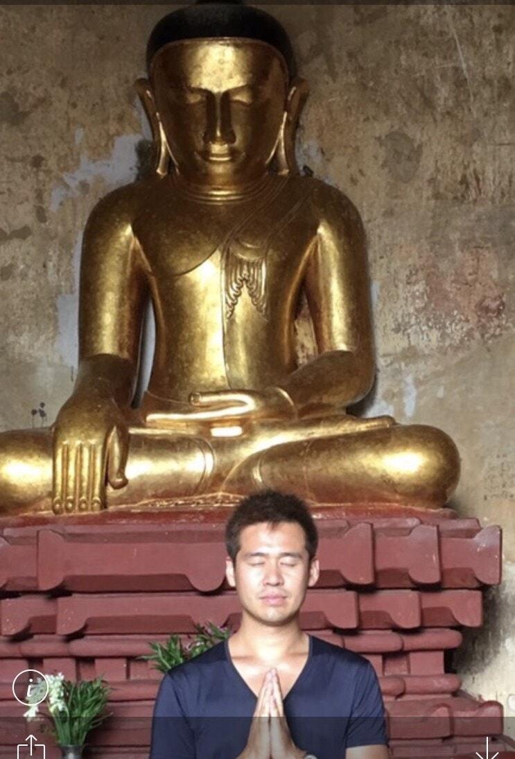 ミャンマーの仏像と竹井佑介