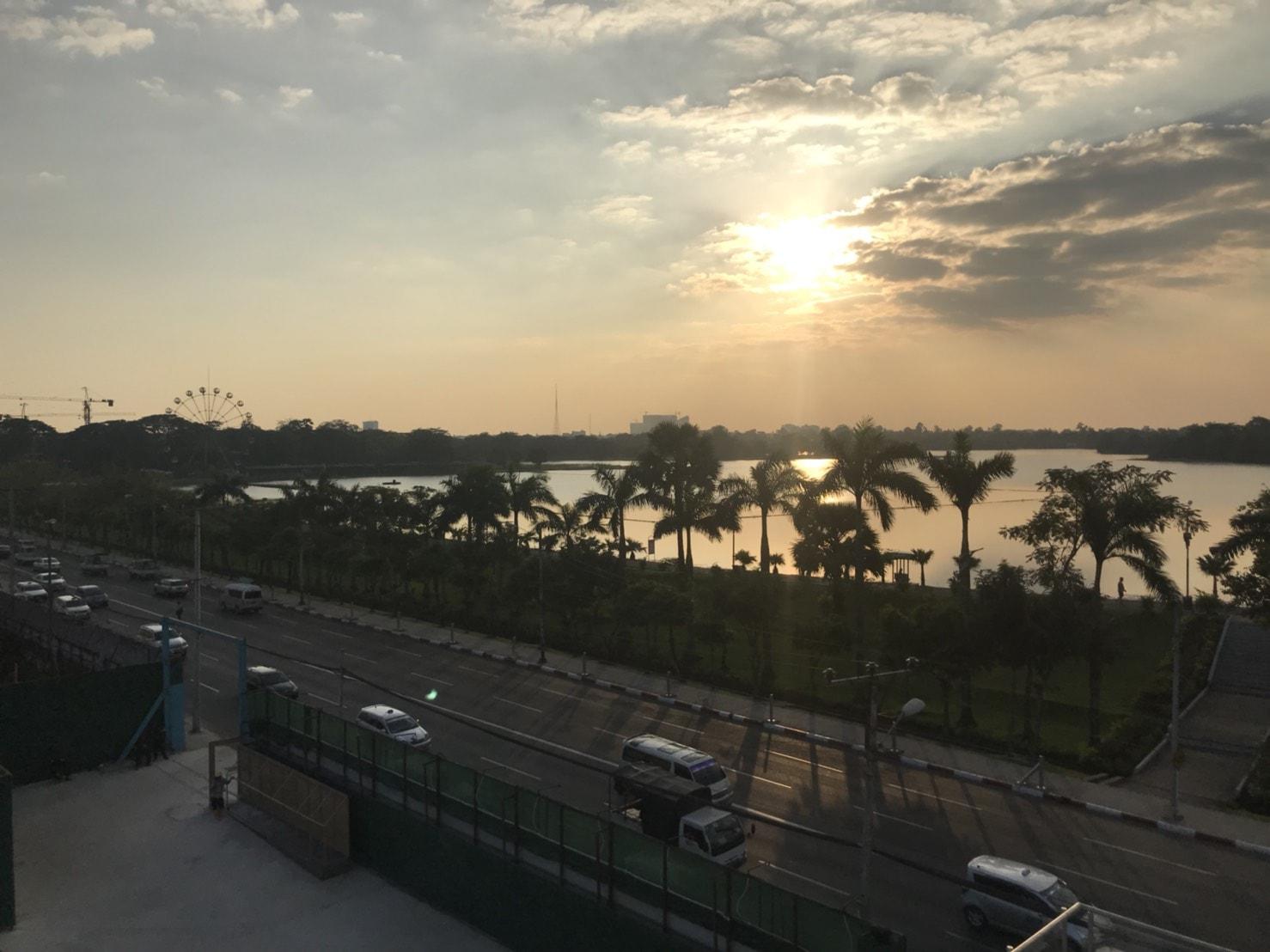 ミャンマーの湖のエリア