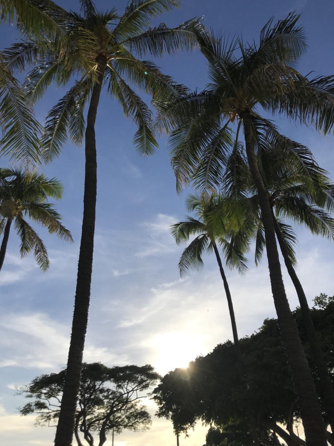171229ハワイの夕日