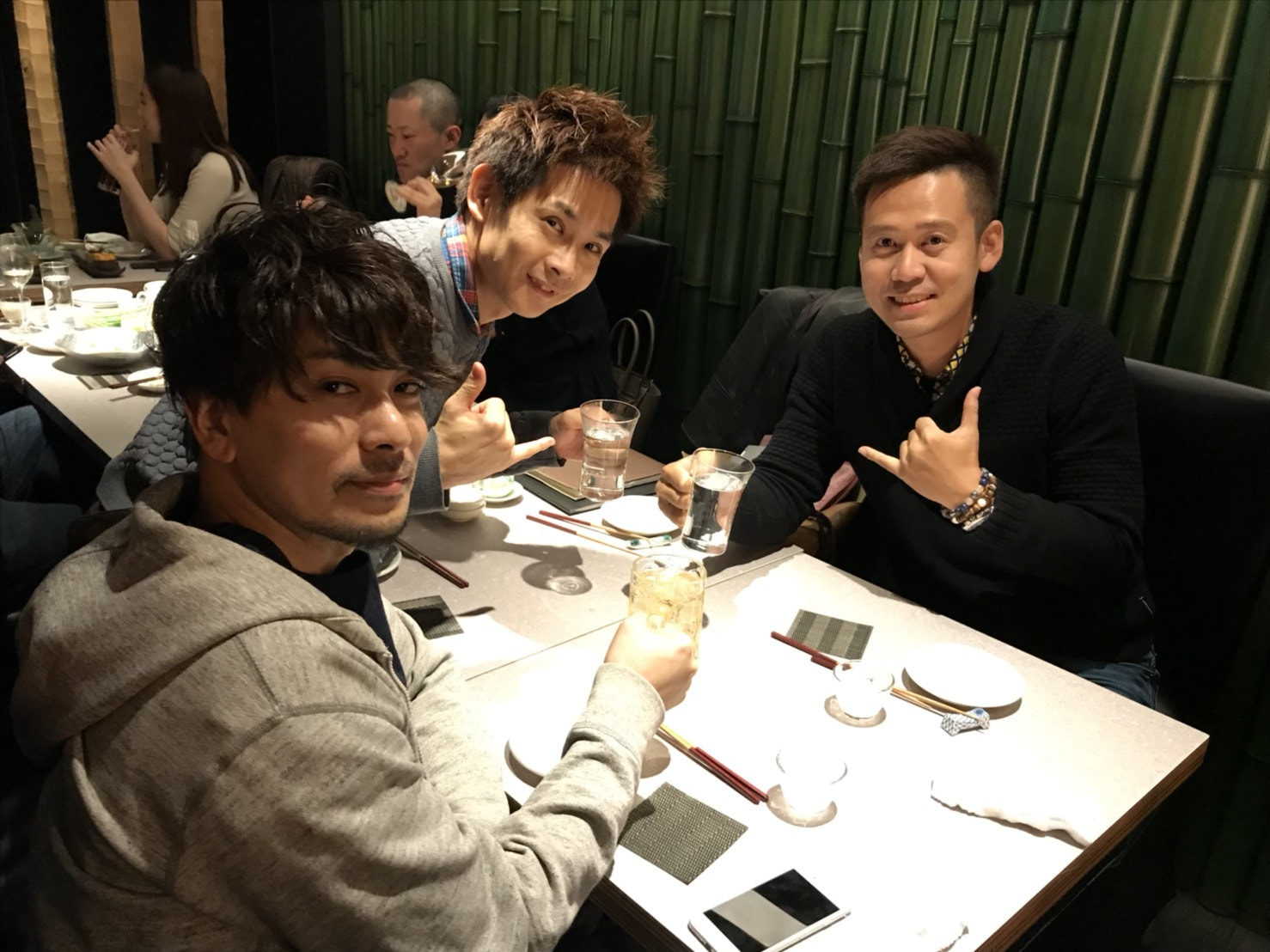 恵比寿で男三人で飲み会