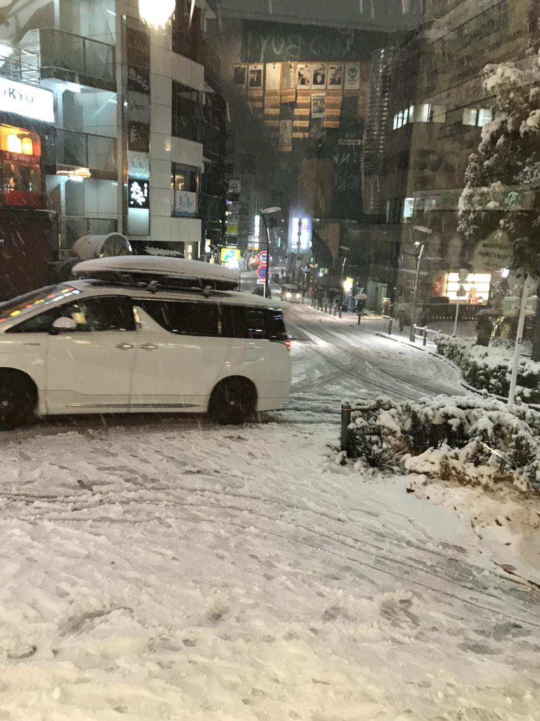 六本木に降った雪