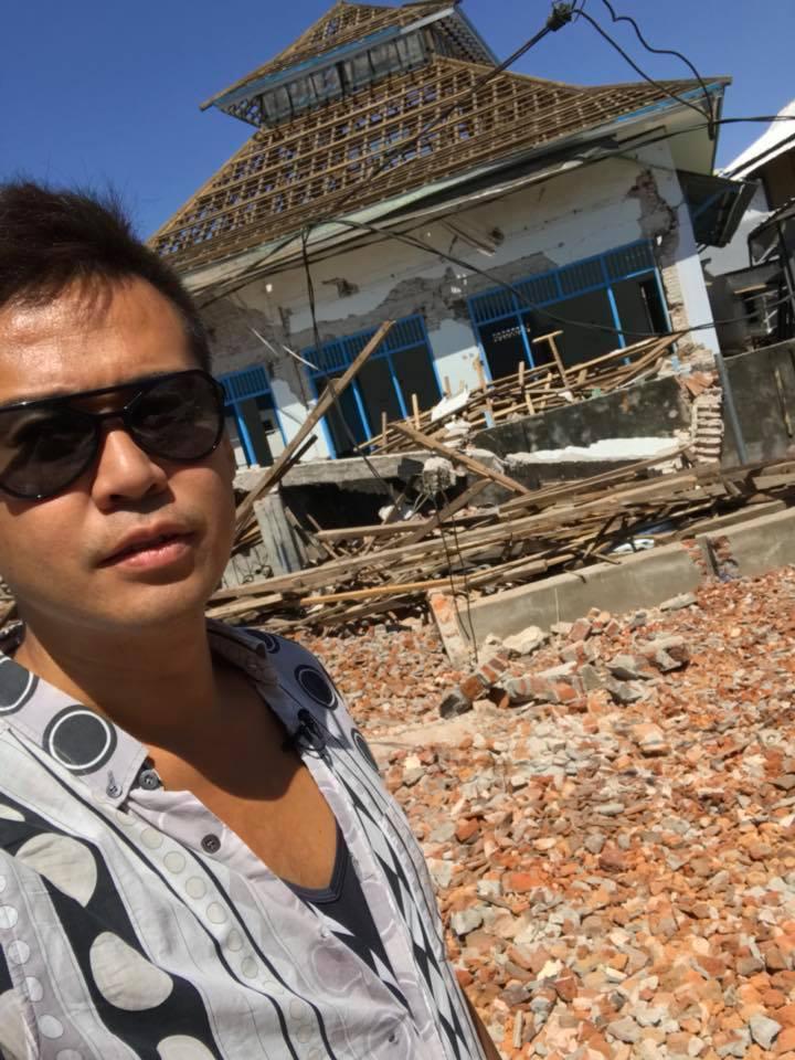 ロンボク島の地震被災地