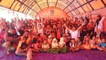 ロンボク島の地震被災地の子どもたち